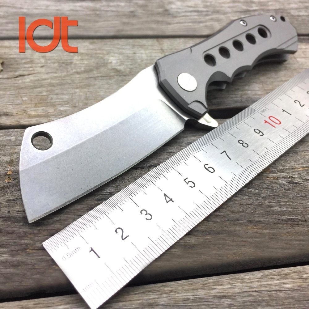 все цены на LDT Butcher Folding Knives S35VN Blade Titanium Handle Tactical Knife Camping Hunting Survival Knife Utility Pocket EDC Tools онлайн
