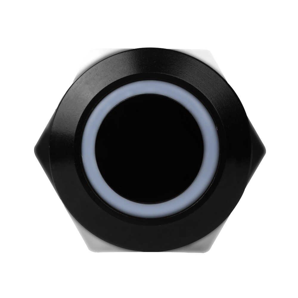 1 шт. Новый практичный Черный Водонепроницаемый 12 В 4 Pin 12 мм светодиодный металлический алюминиевый кнопочный Мгновенный Переключатель Автомобильная электроника