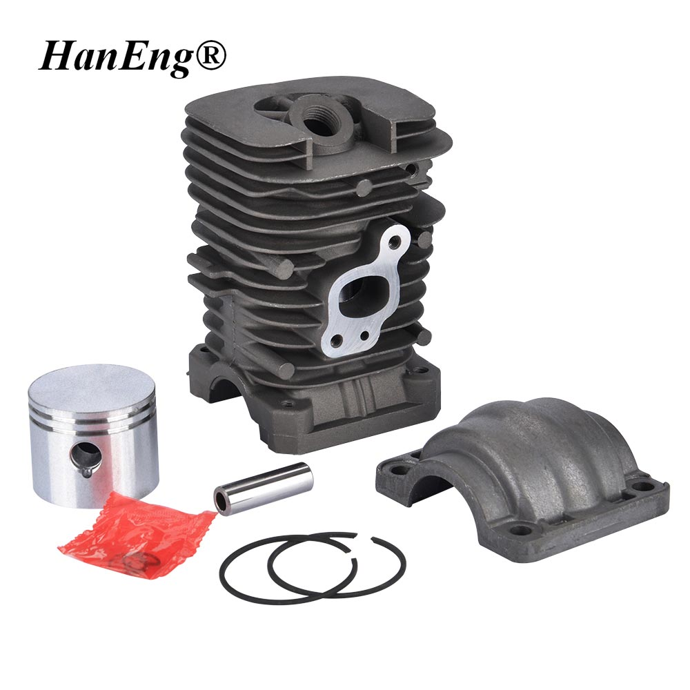 41.1MM 350 CYLINDER & PISTON & CAP ASSEMBLY  FOR PARTNER 351 POULAN 220 221 260  370 401 420 1950 2150 2450 2550 REBIULD KIT high quality carburetor carb carby for husqvarna partner 350 351 370 371 420 chainsaw poulan spare parts walbro 33 29