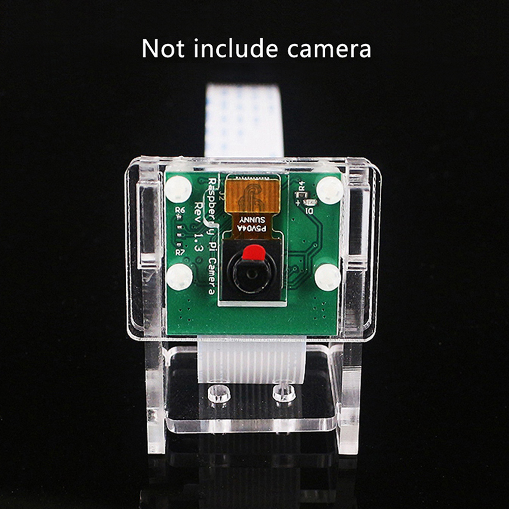 Image 3 - Raspberry Pi 3b+ Camera Case/Camera Module Bracket,Protective Shell and Bracket 2in1 Acrylic Transparent Shell-in Demo Board from Computer & Office