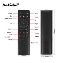 Kebidu G20S Gyro akıllı ses uzaktan kumanda IR öğrenme 2.4G RF Mini kablosuz Fly Air fare klavye G20 için Android TV kutusu