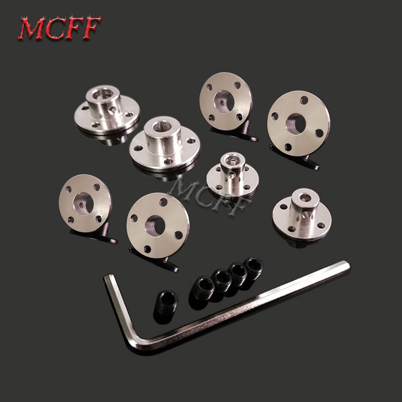 3mm 3.17mm 4mm 5mm 6mm 6.35mm 7mm 8mm 10mm 11mm 12mm Rigid Flange Coupling Motor Guide Shaft Coupler Motor Connector-in Parts & Accessories from Toys & Hobbies