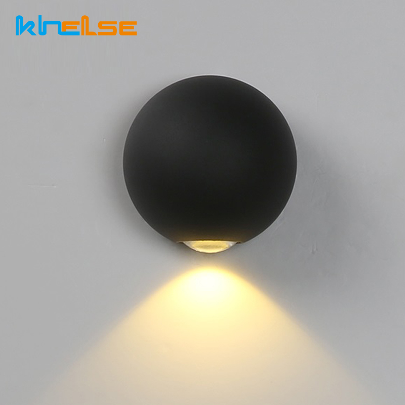 New LED Wall Lamp IP65 3W 6W 12W Outdoor Wall Light Waterproof Yard Garden Lamp Modern Indoor Bedroom 90~260V Corridor Lighting modern waterproof cube cob led light wall lamp home lighting decoration garden outdoor indoor wall lamp aluminum 6w 12w ac 220v