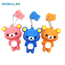 New cartoon usb flash drive 2.0 128GB Bear stick 32GB 4GB 8GB 16GB 64GB pendrive Rilakkuma pen Cute gift free delivery