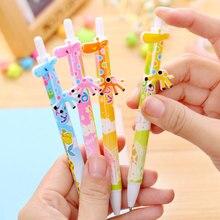 4 pcs/lot giraffe Ballpoint Pen Office And School Supplies Cute Stationery Ball Set Accessories