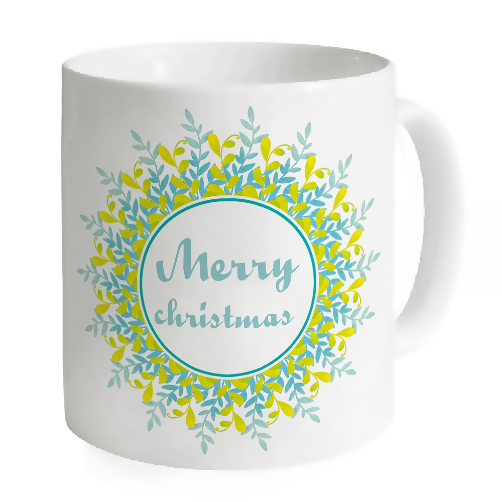 white green merry christmas coffee mug printing tea milk cups ceramic juice creative coffee copos home office travel cups gifts in mugs from home garden - Christmas Coffee Cups