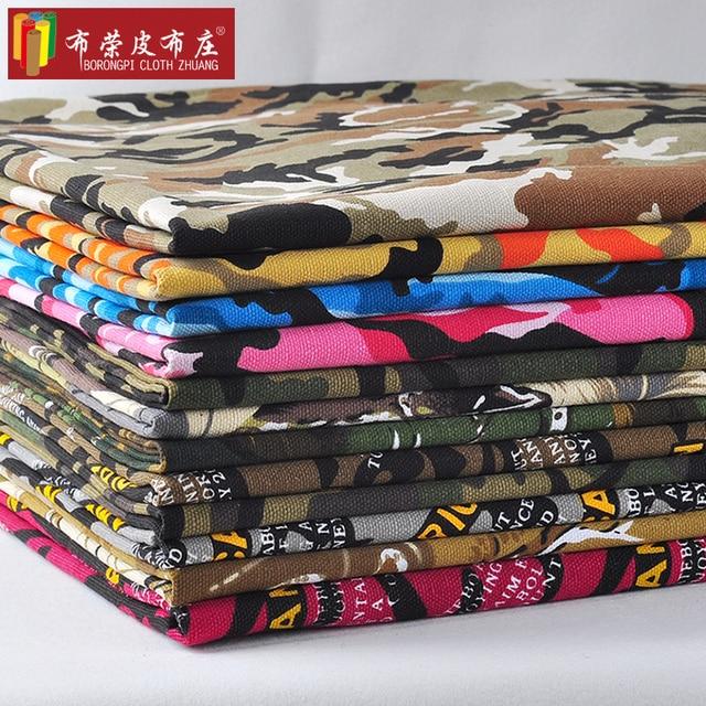 Popolare FAI DA TE manuale stampa su tela camouflage tessuto dell'indumento  IY98