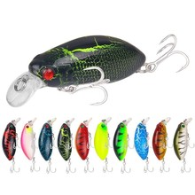 цена 10 Colors 6cm 11.1g Crankbait Fishing Lure Artificial Crank Hard Bait Topwater Minnow Fishing Wobblers Japan Fish Lures онлайн в 2017 году