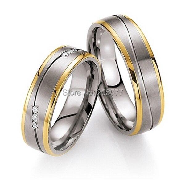 Высококачественные дешевые мужская рубашка титановые Свадебные обручальные кольца наборы