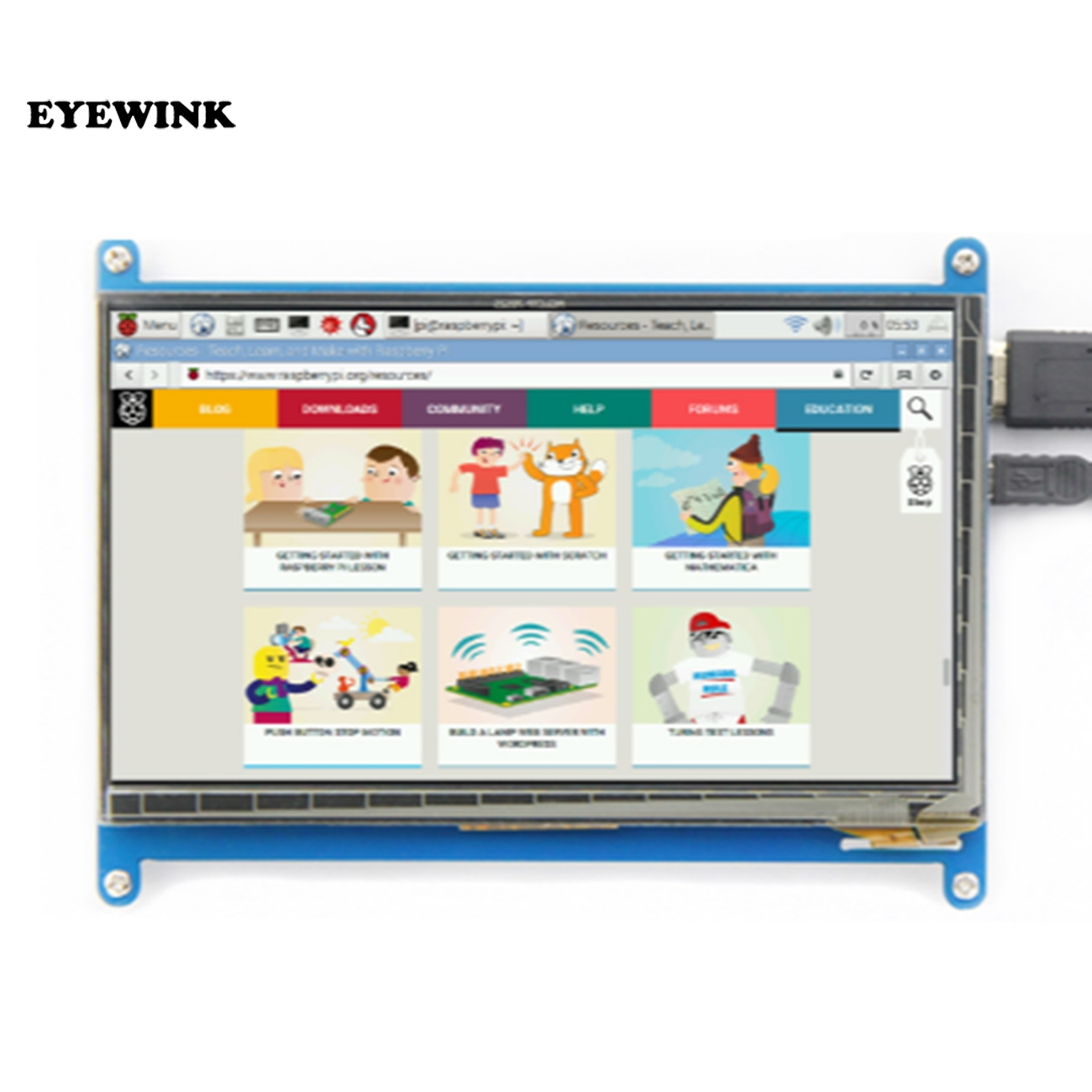 EYEWINK 7 inch Raspberry pi touch screen 1024*600 7 inch Capacitive Touch Screen LCD, HDMI interface, supports various systems 3 5 inch touch screen tft lcd 320 480 designed for raspberry pi rpi 2
