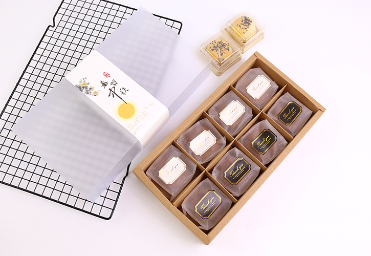 10 set Clear Plastic Bakery Pastry Boxes Food packing Kraft Paper Cupcake Cookie Cake Box Birthday Party Festival Christmas