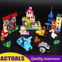 885pcs Large Creative Brick Box 42002 10698 City Building Blocks DIY Classic Brick Toys Compatible legoed for Children