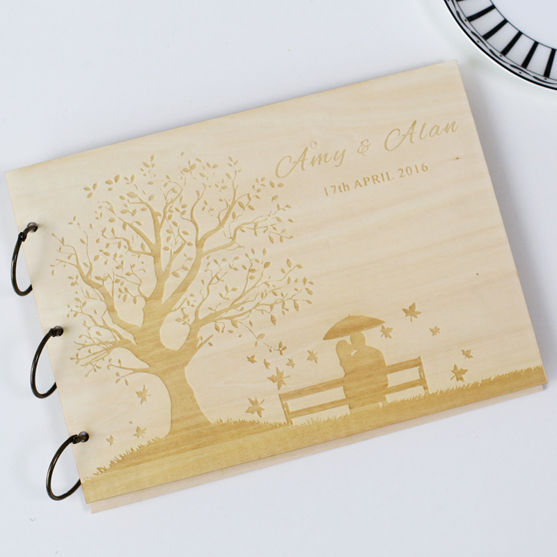 Wedding Gifts From Bride And Groom To Guests : Wedding Guest Book, Wedding Present, Christmas Gift, Bride and Groom ...