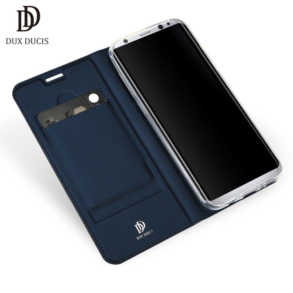 DUX DUCIS En Cuir Flip Cas pour pour samsung Galaxy S8 S8 PLUS Portefeuille Capa entreprise Livre Couverture de téléphone cas pour samsung S8 cas