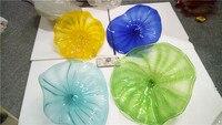 Modern 100 Handmade Blown Glass Wall Plate Murano Glass Chihuly Style Art Plate