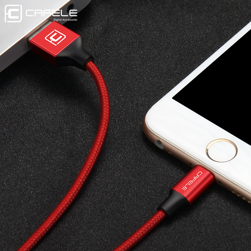 Cafele Nylon Braided USB Cable 8 Pin USB Charging Cord for font b iPhone b font