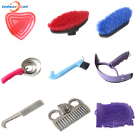 Horse Supplies Cleaning Set Equestrian Sweet Scraper Comb Water Wiper Hoof Pick For Horse Cleaning Grooming