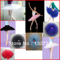 Adult Ballet Tutu Skirt With 7 Layers Orangza Dance Skirt Free Shipping