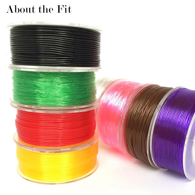 About the Fit 1mm 20M Crystal Elastic Threads Stretch Cords DIY Jewelry Accessories Beading String HandCrafts Findings Lacing