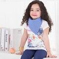 Бесплатная доставка 1 шт. 100% хлопок одежда для новорожденных девочек нагрудники ребенка полотенцем банданы chiscarf ldren галстук младенческой полотенце # ks-001