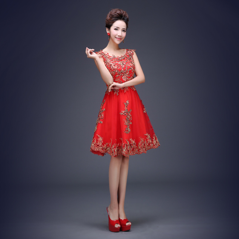 Xs3 largo elegante vestido de fiesta hasta el suelo de encaje rojo ...
