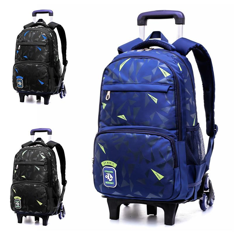 HOT can climb stairs luggage waterproof 5 10year school bag On wheels students knapsack Casual suitcase Children travel backpack
