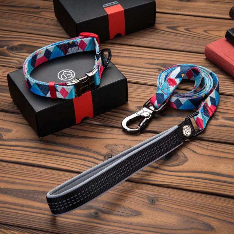 Nylon Dog Pet Collar And Leash Set Puppy Dog Leash Collar For Chihuahua Pug Bulldog Arnes Perro Travel Walking Accessories