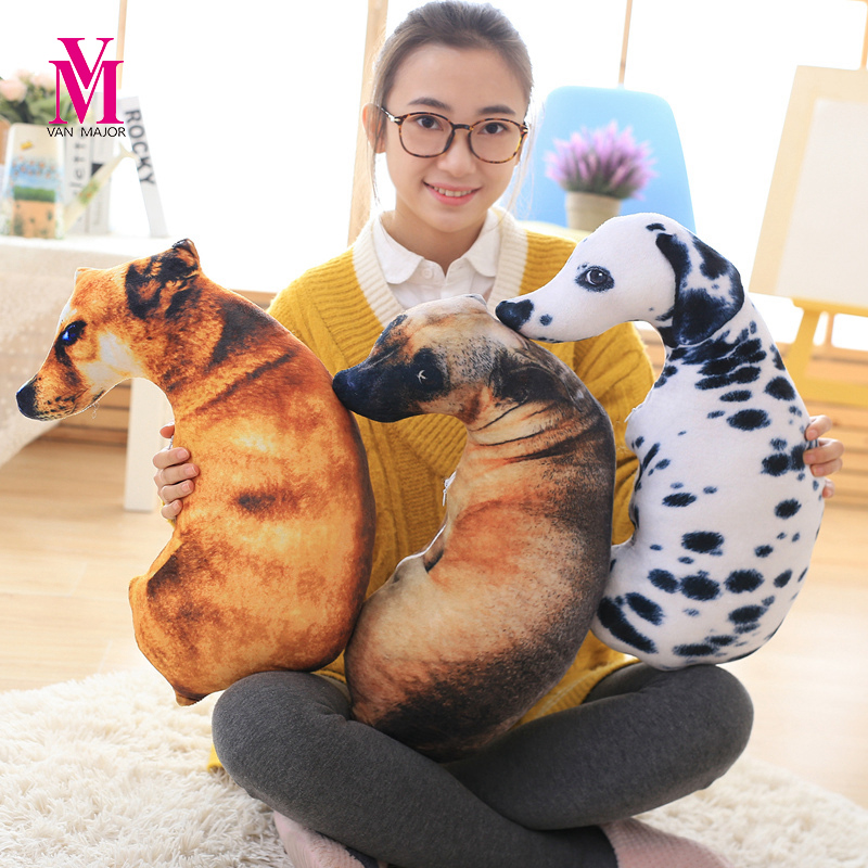 Dog Head Pillow Simulation 3d Creative Spoof Plush Toy Doll Birthday Gift To Send Girls lovely giant panda about 70cm plush toy t shirt dress panda doll soft throw pillow christmas birthday gift x023
