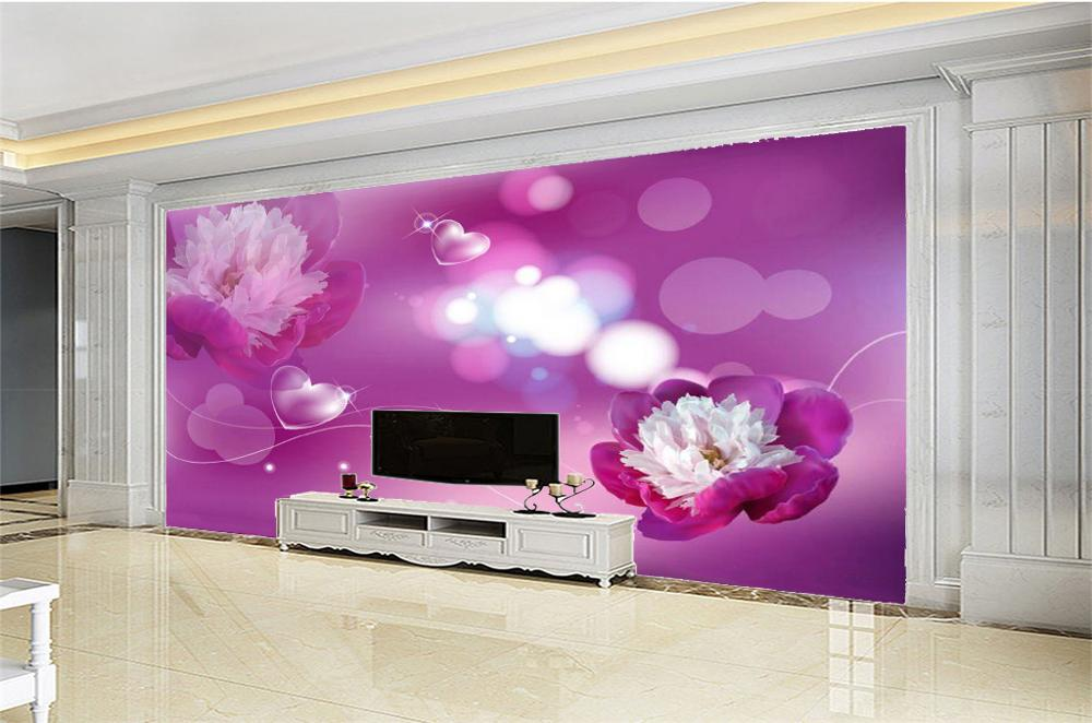 Beibehang 3D Wall Paper Home Decor Custom Romantic love, beautiful flowers, decorative bedroom, living room, high-definition walBeibehang 3D Wall Paper Home Decor Custom Romantic love, beautiful flowers, decorative bedroom, living room, high-definition wal