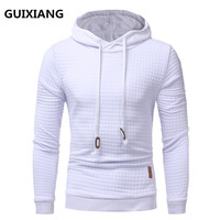 2018 Spring New Casual Plaid Hoodies Men S Casual Fashion Sweatshirts Long Sleeve Hoodies High Quality
