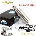 V5 cigarro eletrônico Kayfun Rebuildable RDA 1:1 clone Fluxo de Ar Ajustável gotejador tanque vs kayfun mini v3 para mod caixa Grande vapor