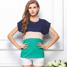 3a62c8b6567 Новинка 2017 года леди девушка футболка с коротким рукавом шить рубашки  Женский О-образным вырезом