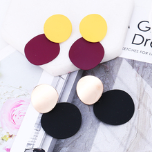 2019 New Best Selling Korean Version  Female Sequin Drop Earrings &Simple Small Fresh Multicolor Brincos For Women Bride Jewelry