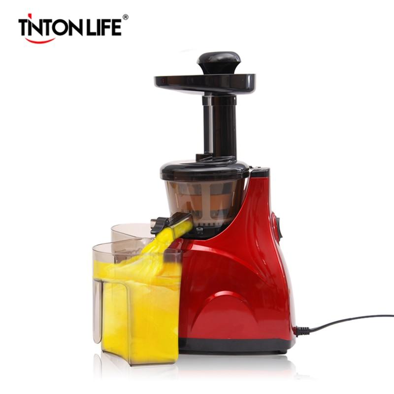 TINTON LIFE Vegetable Fruit Juicers Machine Lemon Juicer Electric Juice Extractor 100% Original Household Slow Juicers