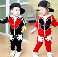 2017 Spring Children's Clothing Sets Girls and Boys Casual Style Clothing Long-Sleeved Kids Suits  Hoodie Suit Free Shipping