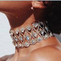 Dvacaman New Choker Necklace For Women Gold Color Luxury Maxi Pendant Necklace Fashion Statement Necklace Gift
