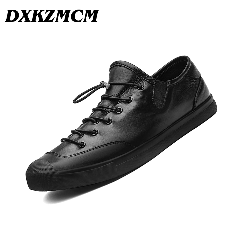 DXKZMCM Genuine Leather Men Casual Shoes Luxury Men Loafers Men Shoes Fashion Flats dxkzmcm genuine leather men loafers comfortable men casual shoes high quality handmade fashion men shoes