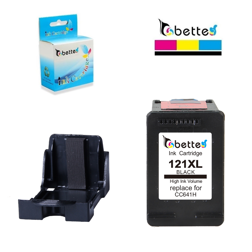 BETTE Ink Cartridge Replacement for <font><b>HP</b></font> <font><b>121</b></font> 121XL hp121 Deskjet D2645 D2660 D2668 D2680 D2563 D2566 D2568 F2493 F4275 F4283 F4583 image