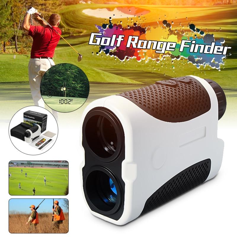 Limpar LED Golf Digital Laser Range Finder Ocular F ocus Caça Binóculos de Compensação da Inclinação do Ângulo de Digitalização Pinseeking Clube 400 m