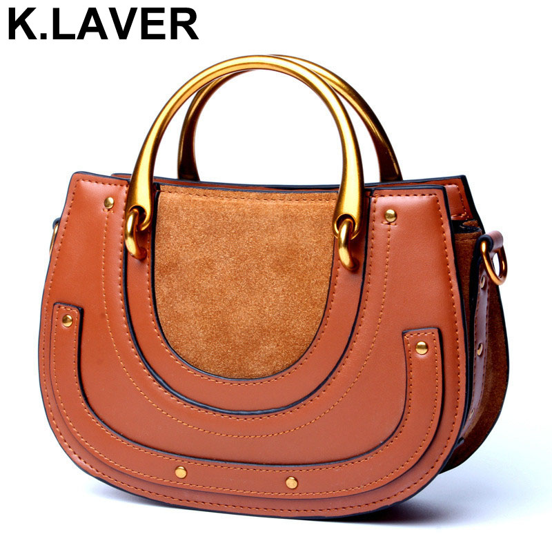 K.LAVER 100% Genuine Leather Bag Famous Women Messenger Bags Leather Saddle Bag Shoulder Handbag Crossbody Bags Bolsa Feminina fashion floral print women bag crossbody women messenger bags pu leather handbag purse sling shoulder bags bolsa feminina