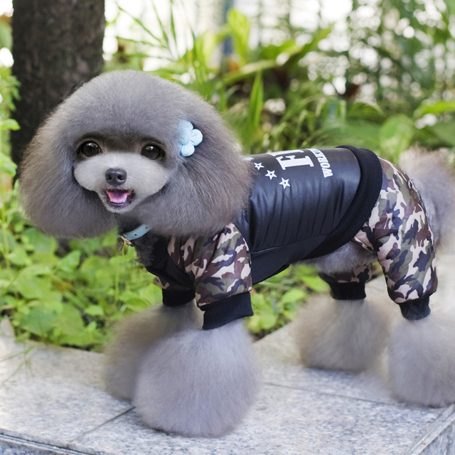 Cool FBI Pet Dog Clothes Overall Thickening Dog Puppy Jumpsuit Costume Warm Winter Clothing For Boy Dogs Ropa Para Perros 4