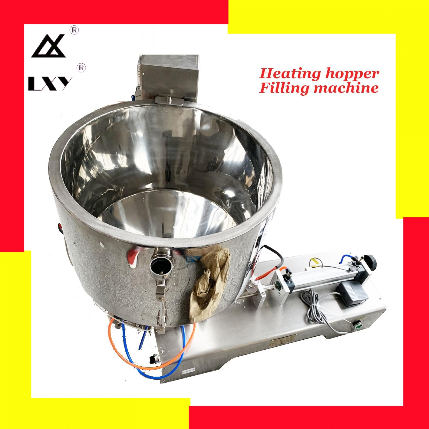 Heating Hopper Paste Filling Machine Honey Chocolate Peanut Butter Chilli Sauce Pepper Jam Hotpot Seasoning Filler Free Shipping