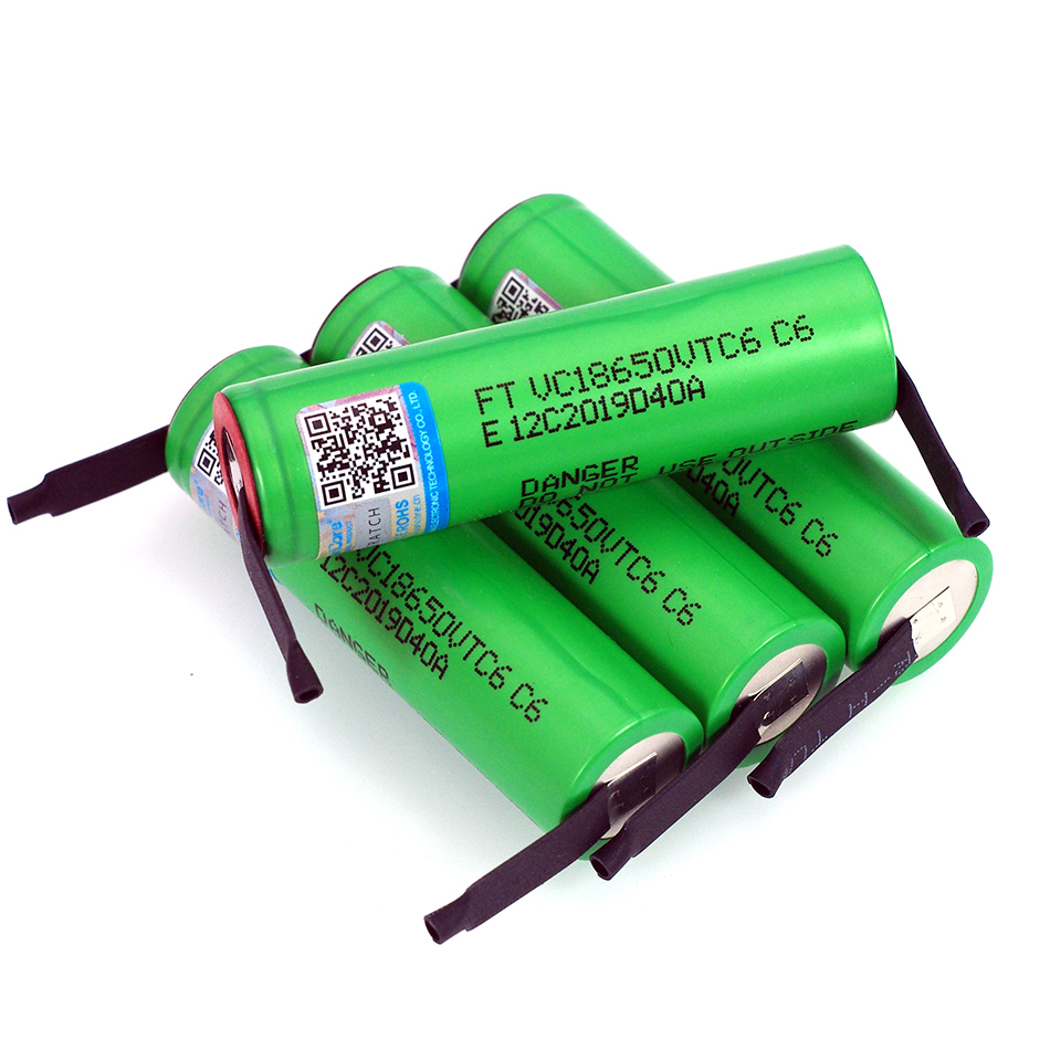 Image 3 - VariCore VTC6 3.7V 3000 mAh 18650 Li ion Rechargeable Battery 30A Discharge VC18650VTC6 batteries + DIY Nickel Sheets-in Replacement Batteries from Consumer Electronics