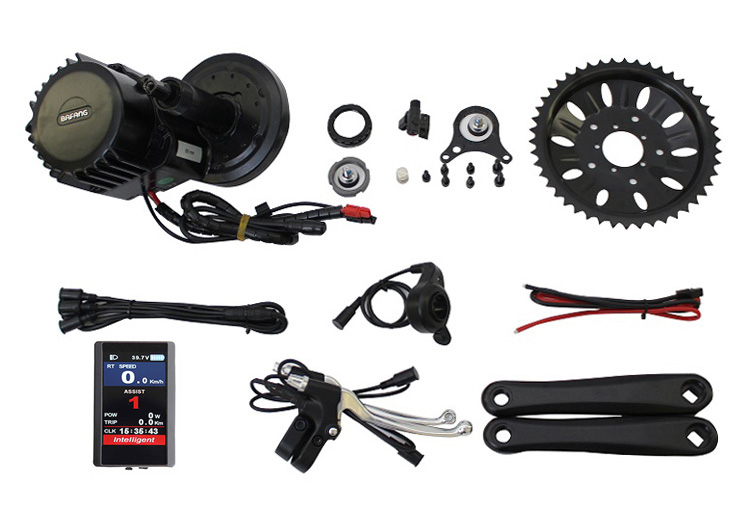 EU Free Tax Bafang BBS03 BBSHD 48V 1000W Ebike Mid Drive Motor Kit 46T Chain Wheel Integrated Controller TFT850C BB68mm 90 100mm