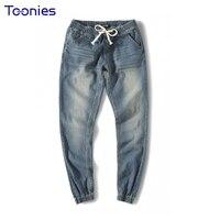 2018 New Autumn Winter New Men S Casual Denim Harem Pants Male Elastic Waist Jeans Hip