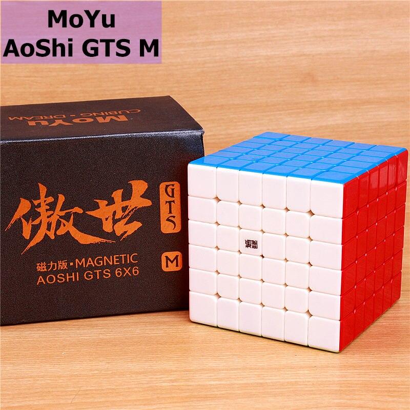 Moyu aoshi, gts M 6x6x6, Cubo de velocidad mágica magnética, pegatina de imanes de gtsm menos profesional, cubos de juguetes de rompecabezas para niños Cubo mágico sin etiqueta MoYu 3x3x3 meilong, Cubo de rompecabezas, cubos de Velocidad Profesional, juguetes educativos para estudiantes