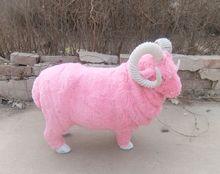 new simulation pink sheep toy polyethylene fur big sheep doll gift about 55x42cm