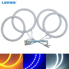 LEEWA 4x100mm 4pcs/Set Car SMD LED Halo Rings Angel Eyes DRL Head Lamp For Volvo S40 White/Blue/Yellow #CA5272(China)