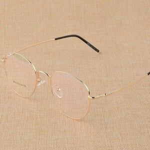 Image 4 - BCLEAR gafas planas con marco para miopía Unisex, anteojos con montura para miopía, de aleación de titanio, con personalidad Retro