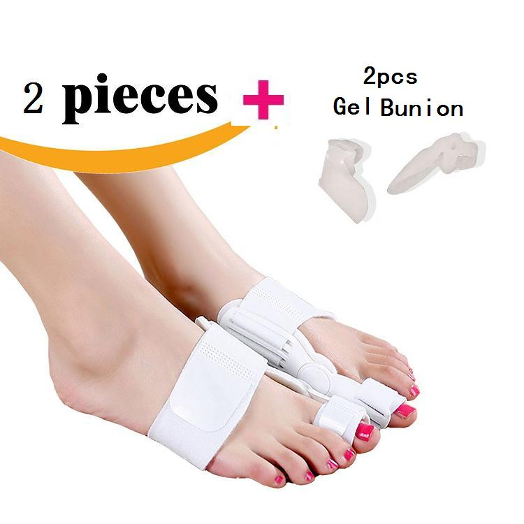 4pcs 2pcs splint 2pcs gel bunion Toe Straightener Bunion Splint Movable Protection and Correction Hallux Valgus